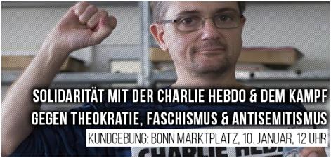 Kundgebung für Charlie Hebdo